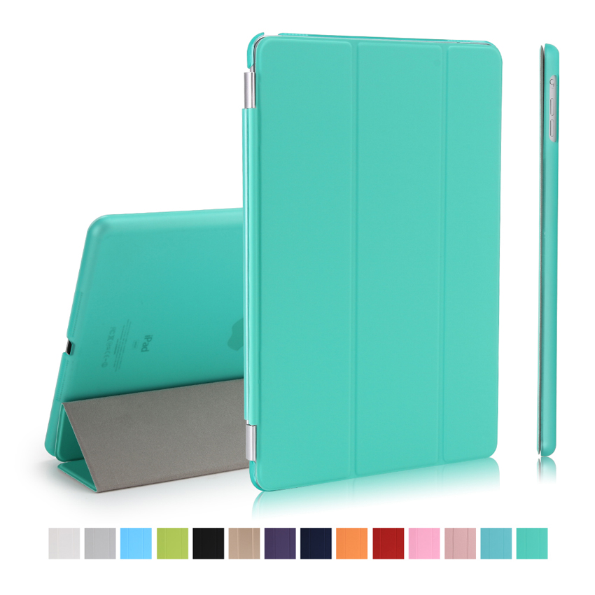 DIVIDI For New IPad 9.7 2017 A1822 A1823 Smart Case Cover PU Leather+Ultra Slim Light Weight PC Back Cover Auto Wake/Sleep