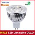 High lumen CREE MR16-GU5.3 ПРИВЕЛИ пятно света лампы 12 В 220 В 110 В 3 Вт 4 Вт 5 Вт СВЕТОДИОДНЫЙ Прожектор Лампа ГУ 5.3 светодиодные лампы свет