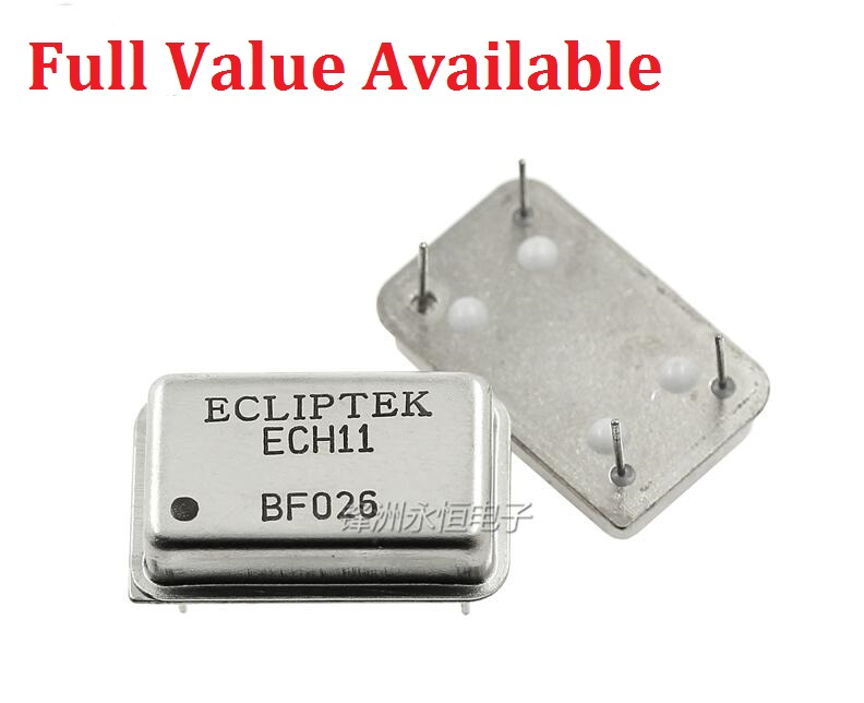 5PCS DIP 4PIN 4MHZ 8MHZ 10MHZ 11.0592MHZ 12MHZ 16MHZ 20MHZ 22.184MHZ 24MHZ 40MHZ 50Mhz/M Rectangle Active <font><b>Crystal</b></font> Oscillator image