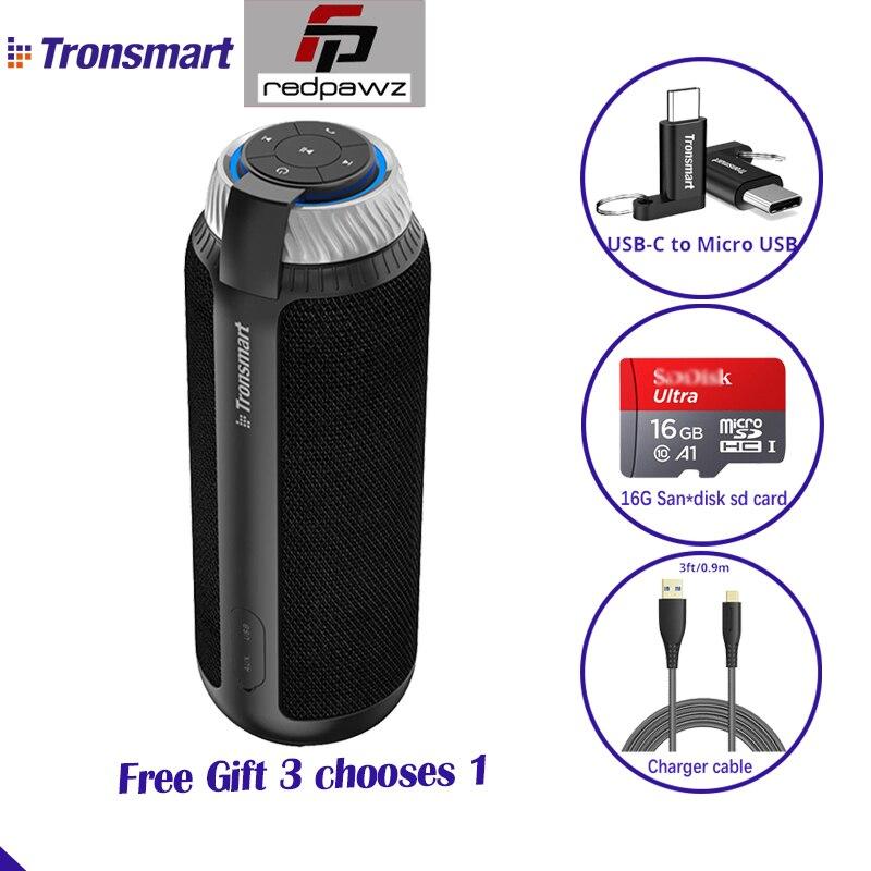 Tronsmart Element T6 Drahtlose Bluetooth Lautsprecher mit Geschenk 25 W Spalte Tragbare Lautsprecher 360 Stereo Sound Soundbar Musik