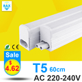 PVC Plastic LED Tube T5 Light 60CM 220V 240V LED Fluorescent Tube LED T5 Tube Lamps 10W Cold White Light Neon