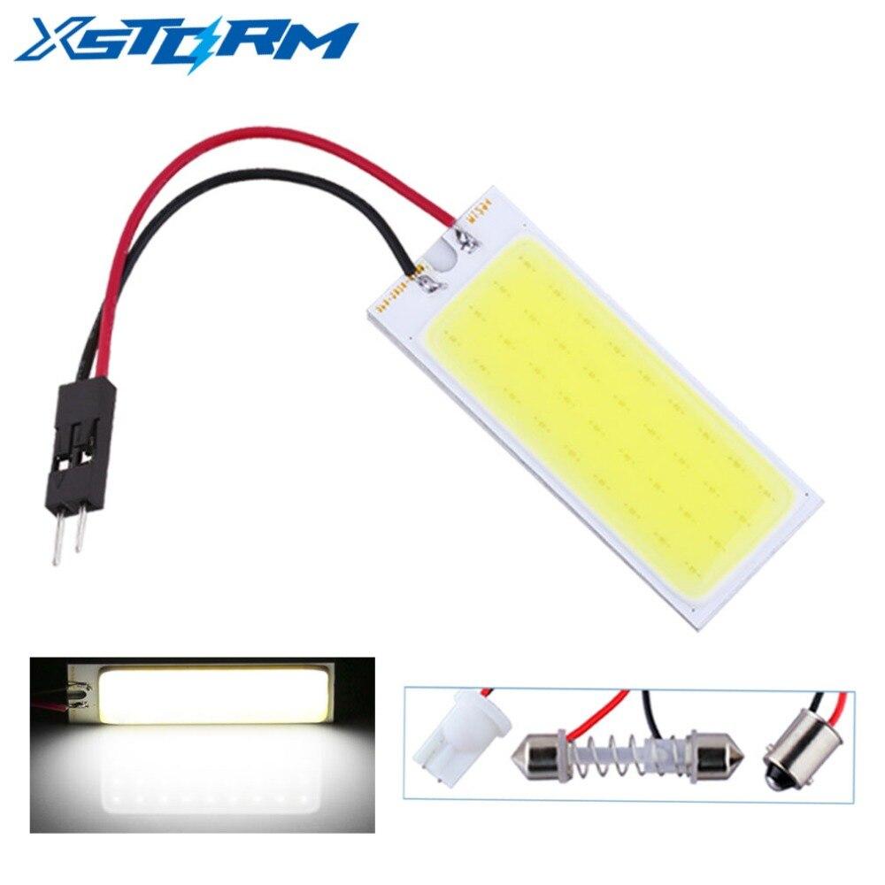 2 adet T10 BA9S Festoon 36 cips COB araba ledi ampuller paneli iç kubbe ışık W5W C5W okuma lambası araba işık kaynağı 12V