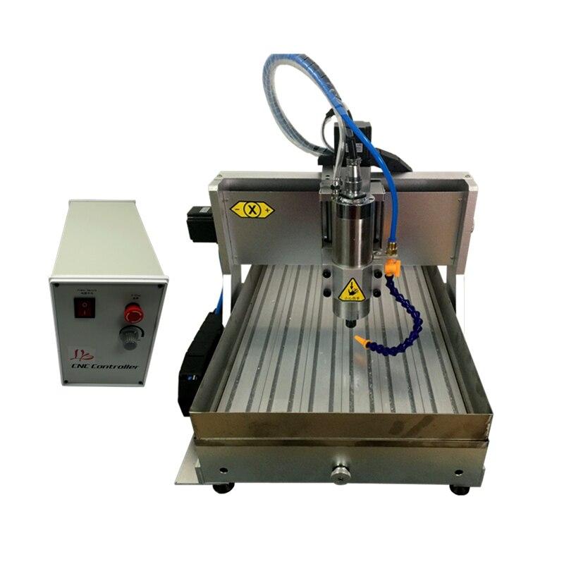 Mini CNC 3020Z 1.5KW máquina de grabado de metal con tanque de agua de acero inoxidable 304 y pinza de corte tornillo