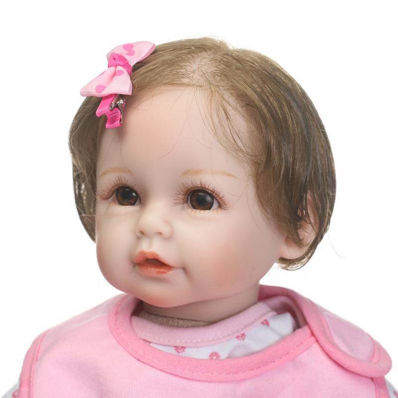 kawaii 55cm Silicone Reborn Baby Doll Toys With Pacifier Luxury Accessories Princess Dolls Lovely Birthday Gift Girls Brinquedos