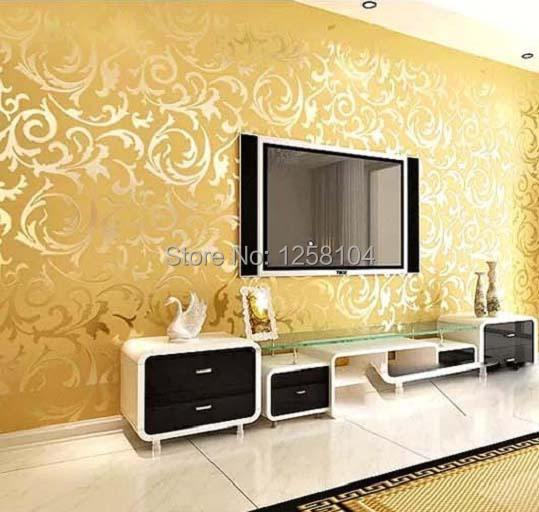 Aliexpress com Buy Europe Simple Floral Wallpaper 3 Colors Non woven Wall  Paper Roll For Living. Simple Bedroom Color   PierPointSprings com
