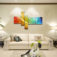 Tooarts The Light of the Life Modern Painting Wall Art Home Decoration 5 Panels Painting By Number for Living Room