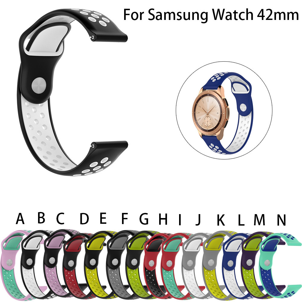 Silicone Band Wrist Strap 20mm For Samsung Galaxy watch Classic Smart Watch 42MM watchband silicone rubber band gear s3 classic аксессуар ремешок samsung galaxy watch 42mm silicone silver et ysu81msegru