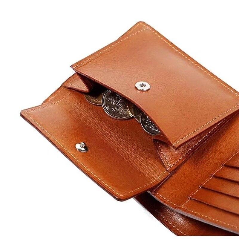 La règle de lame en acier du japon meurt le portefeuille en cuir de à deux volets avec l'étui en cuir - 4