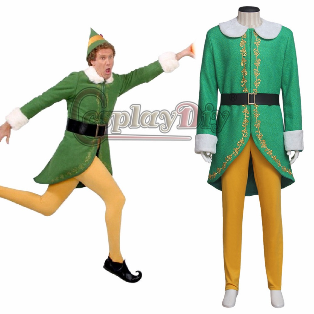 Christmas Carnival Theme Outfit.Us 114 81 11 Off Cosplaydiy Movie Elf Costume Cosplay Adult Men S Halloween Christmas Carnival Party Cosplay Outfit Custom Made J10 In Movie Tv