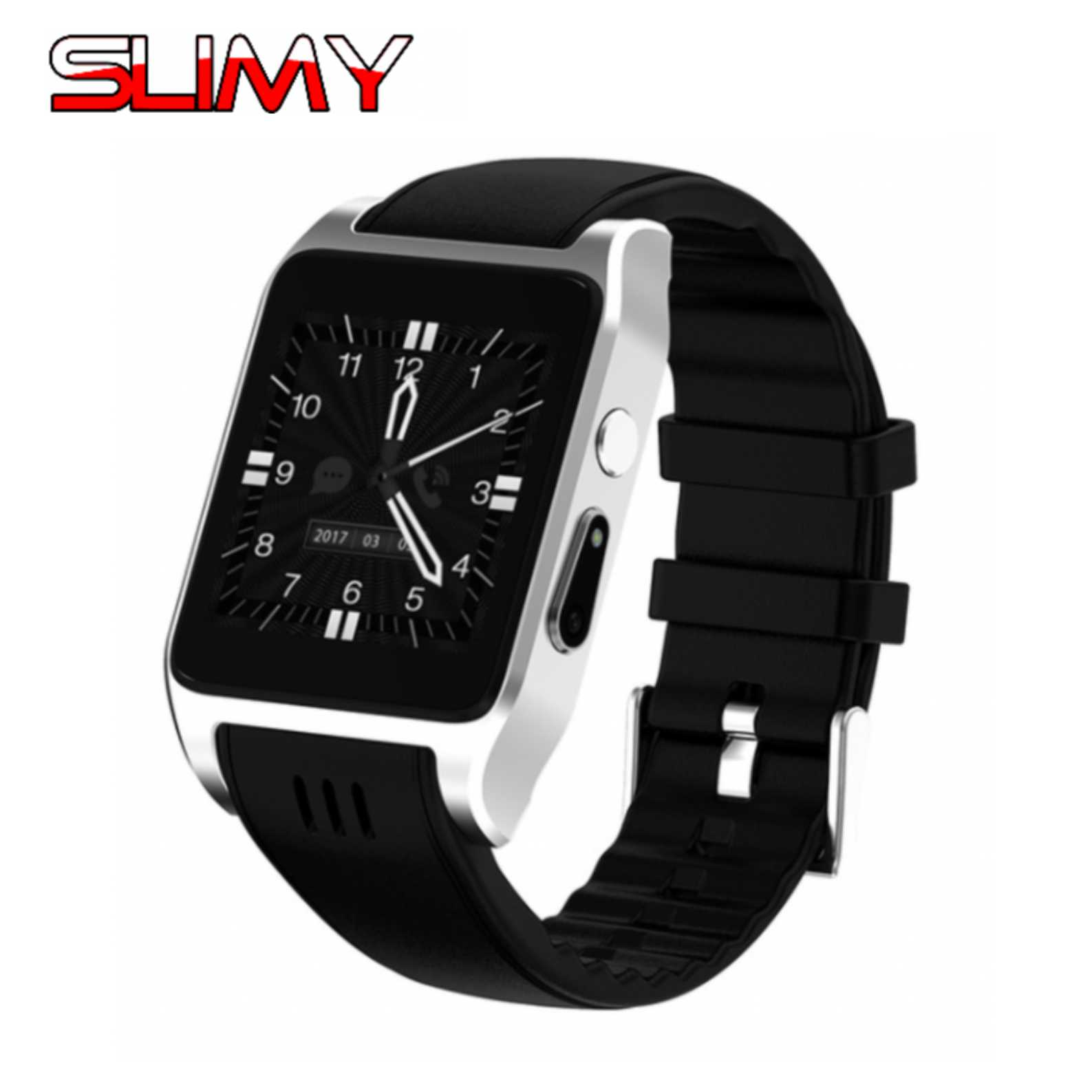 Slimy X86 Android 4 4 Smart Watch 512MB 4GB With Bluetooth 4 0 WIFI 3G Smartwatch