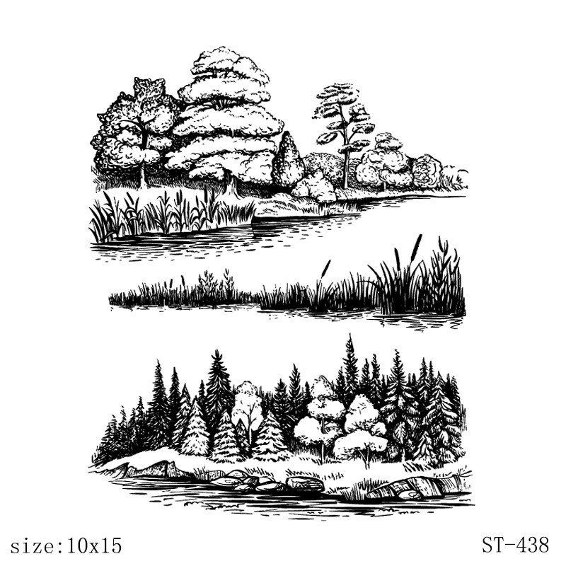 AZSG Wonderful Scenery Leaves Clear Stamps For DIY Scrapbooking Decorative Card Making Craft Fun Decoration Supplies 10x15cm