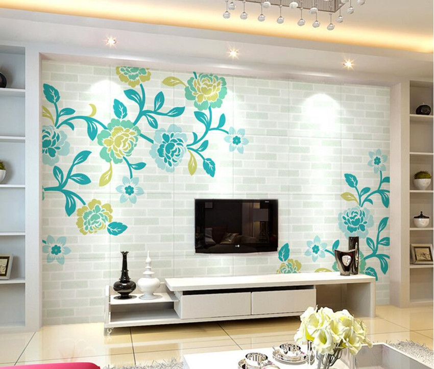 Custom 3D murals,Blue peony personality papel de parede,hotel coffee shop living room sofa TV wall bedroom  wallpaper for wall custom 3d murals cartoon wolf papel de parede hotel restaurant coffee shop living room sofa tv wall children bedroom wallpaper