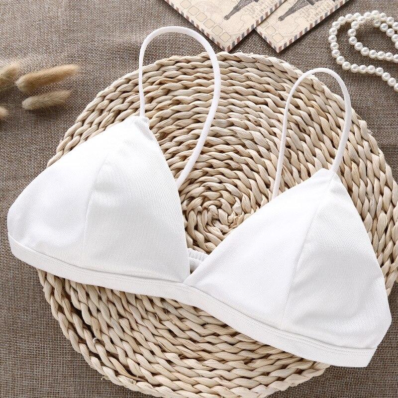 Deruilady Elegant Bra Small Straps Sexy Lingerie Comfortable Wire Free Underwear Women Summer Bras For Women Seamless Bralette