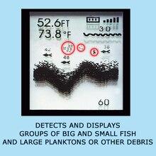 FFW-718BLK Fish Finder LUCKY Wireless Water Temperature Sensor Live Water Contour 45M Fish Finder Sonar Sensor Dot Matrix