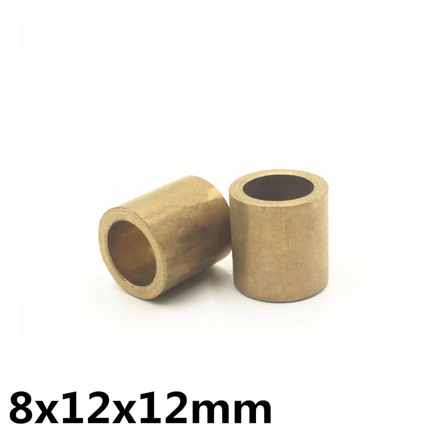 10pcs 8x12x12 Mm FU-1 Powder Metallurgy Oil Bushing Porous Bearing Sintered Copper Sleeve 081212