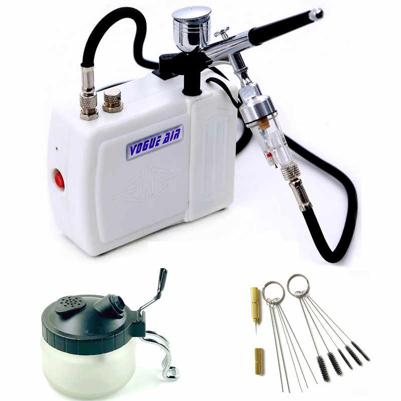 Airbrush Kit met Mini Air Compressor Air brush Spuitpistool voor Make Body Paint Tijdelijke Tattoo gun AirBrush Nail Tool set