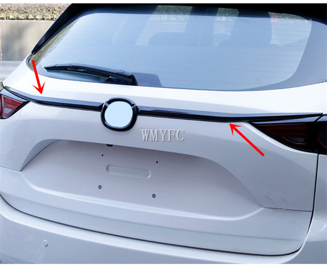 Chrome Rear Trunk Lid Cover Tailgate Boot Back Door Trim Molding Garnish Strip Protector For <font><b>Mazda</b></font> Cx-5 <font><b>Cx5</b></font> 2nd Gen KF 2017 <font><b>2018</b></font> image