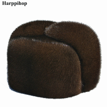 Autumn and winter mink fur casual the elderly hat lei feng for man