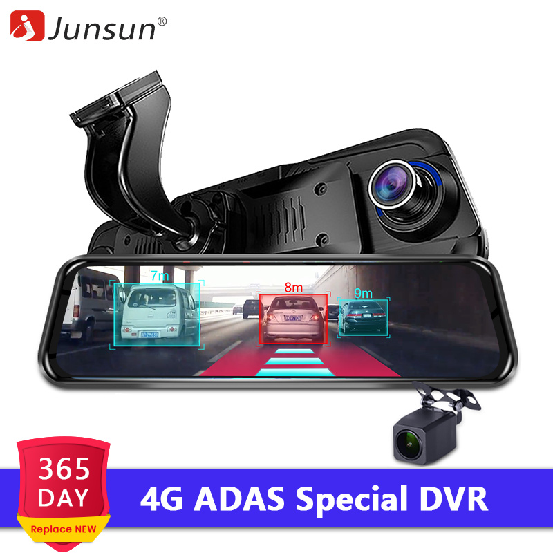 Junsun DVR Camera Rearview-Mirror Video-Recorder GPS Dash-Cam Android Car Wifi ADAS Streaming