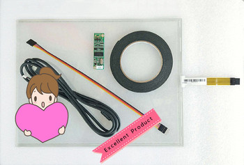 "For 15"" inch 5 wire USB Panel Kit Set -Add Touch Screen Glass Repair Replacement"