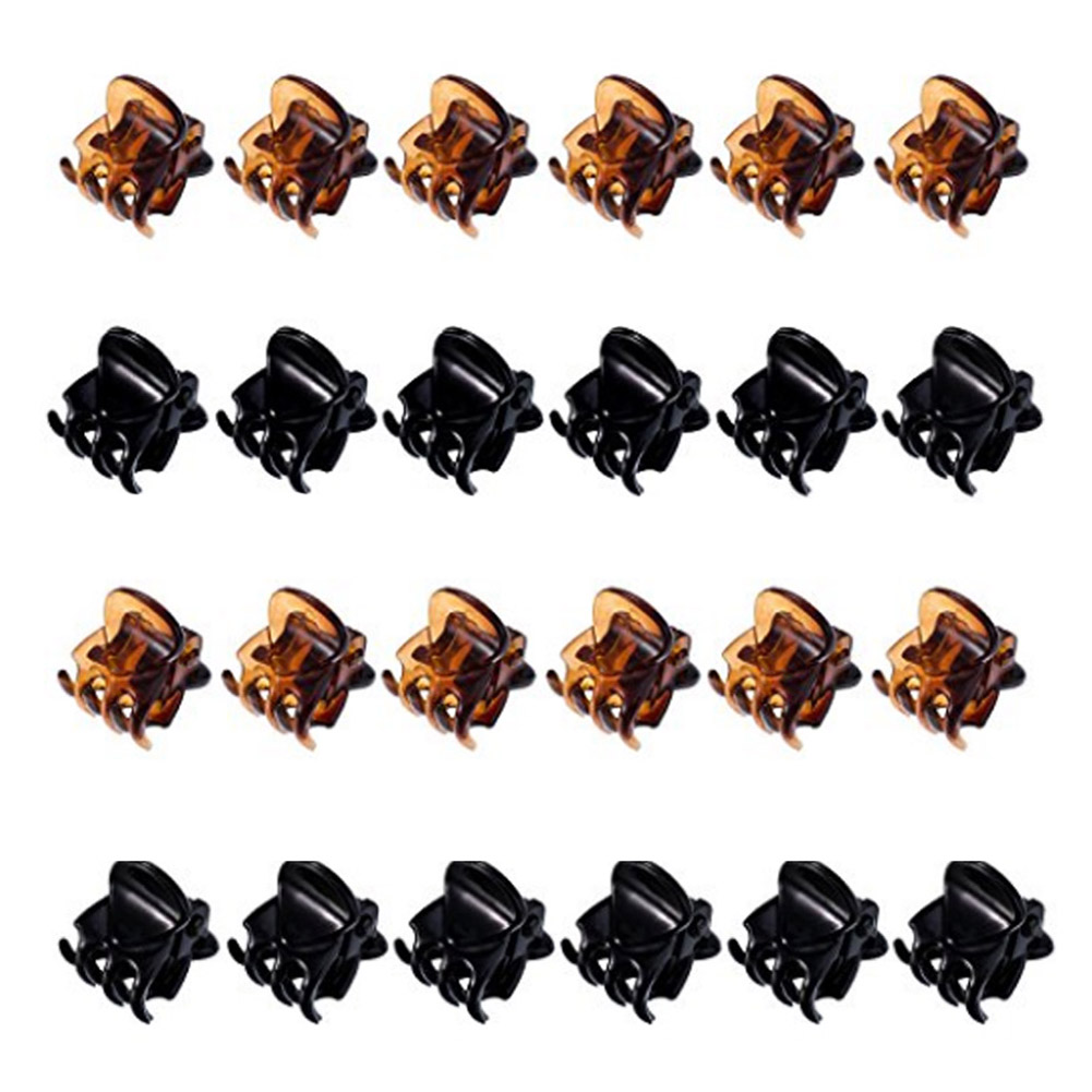 12pcs/ set 2017 NEW Small Plastic Black Hair Clips Claws Clamps HOT