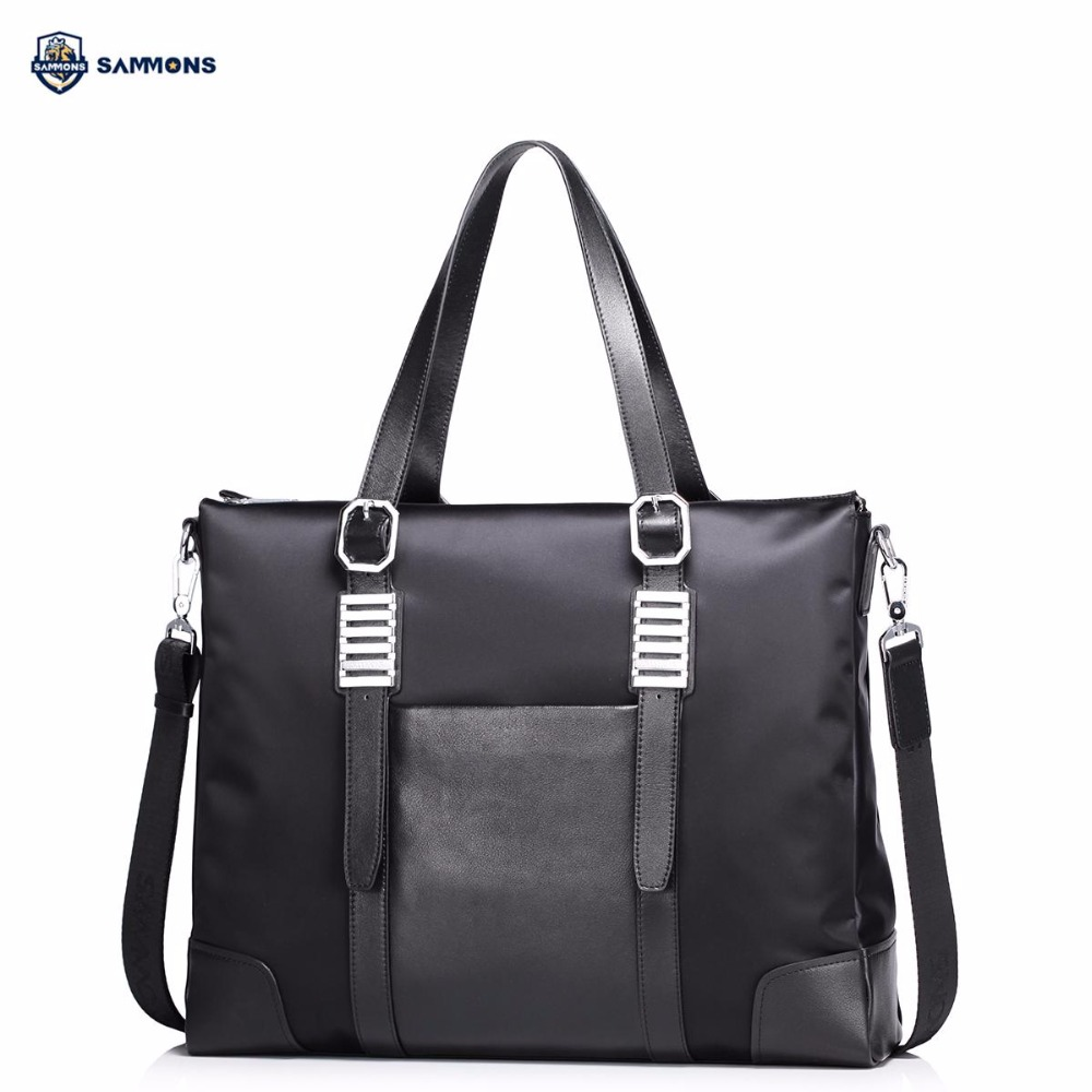 купить SAMMONS Brand Design Fashion Business Waterproof Nylon Casual Men Briefcases Large Hand Bag Shoulder Crossbody Laptop Bags недорого