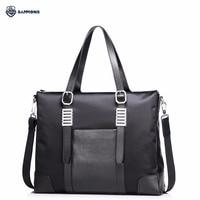 SAMMONS Brand Design Fashion Business Waterproof Nylon Casual Men Briefcases Large Hand Bag Shoulder Crossbody Laptop