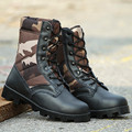 2017 winter Military leather disruptive pattern boots for men asker bot  and camouflage Combat bot Infantry tactical boots