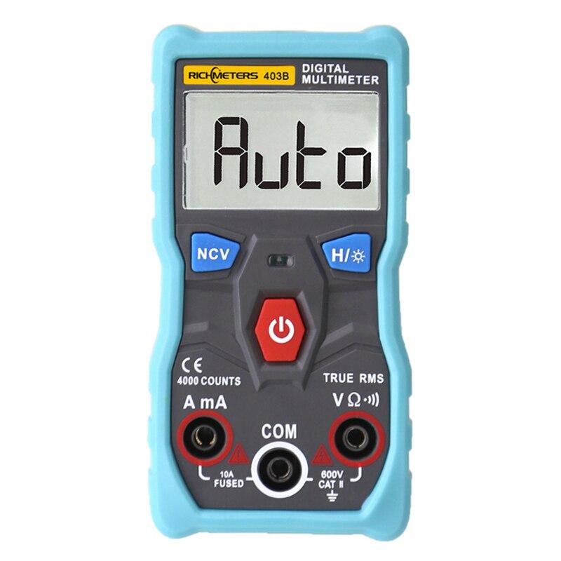 RM403B Automatische Digital Multimeter True-RMS intelligente NCV 4000 Zählt AC/DC Spannung Strom Ohm Test Werkzeug
