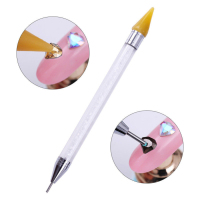 5pcs/lot Dual ended Dotting Pen Nail Art Rhinestone Picker Wax Pencil Crystal Bead