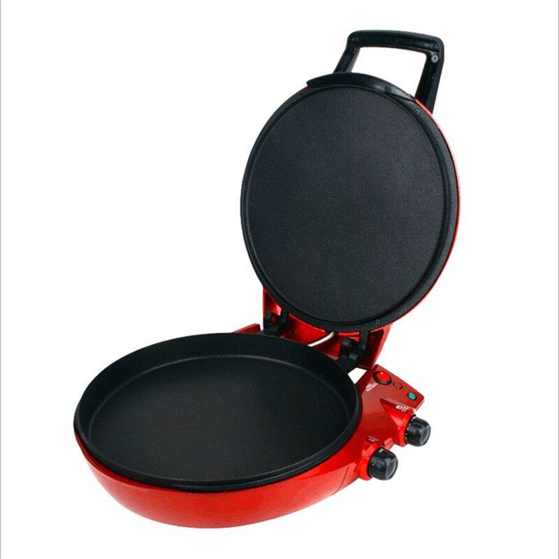 220 V/1650 W multifonction poêle à frire Suspension électrique crêpe Pizza Maker Double face chauffage rouge bouilloires électriques