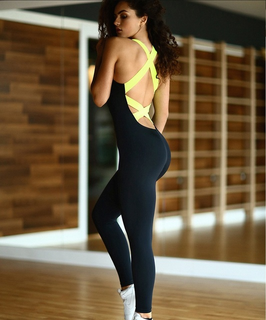 2016 Sexy Bodysuits Cut Out Open Back Tracksuit For Women  Tight Rompers Womens Elegant Bodycon Jumpsuit  Suit Overalls