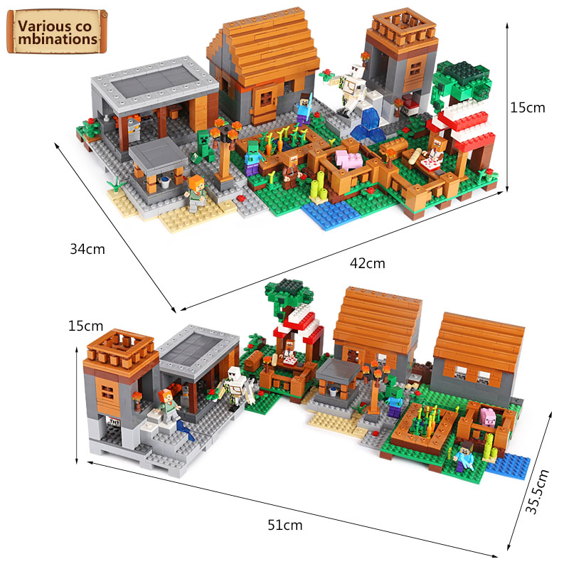 lepin 18010 My World 1106pcs Compatible Building Block My Village Bricks DIY Enlighten Brinquedos birthday Gift Toys kids 21128 free shipping wall element 1x6x5 abs diy enlighten block bricks compatible with lego assembles particles