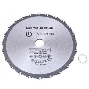 Image 2 - 24t 210ミリメートル丸鋸刃木材プラスチック金属鋸刃のためレイジRage4 rageb 25.4ミリメートルボア進化