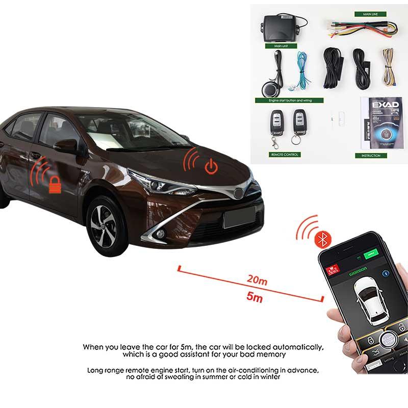 Verrouillage Central à distance de voiture alarme automatique de sécurité de voiture verrouillage Central système d'entrée sans clé démarrage arrêt alarme de voiture sur la voiture