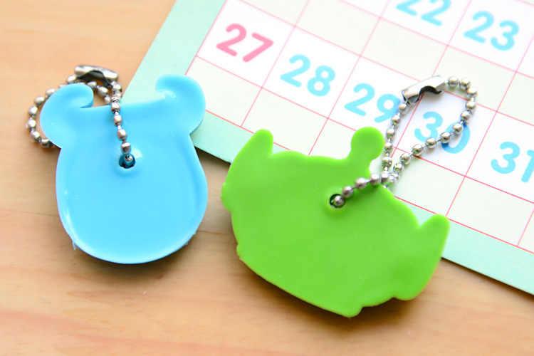 1 قطعة سيليكون مفتاح غطاء للنساء مفتاح غطاء غرزة المفاتيح الكرتون الباندا سلسلة مفاتيح لطيف كيرينغ مفتاح حامل الهدايا