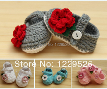 New design Crochet Cotton  Baby Crochet Shoes Baby Knitted Footwear Toddler shoes 0-12M First walkers shoes