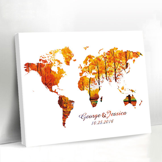 Aliexpress.com : Buy Creative World Map Print Guestbook