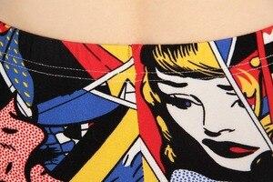 Image 5 - Legginsy damskie wysokiej talii komiks kreskówka spodnie z nadrukiem miękkie kobiece spodnie elastyczne na co dzień