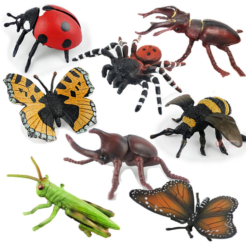 Insect Simulation Model Toys Bug Children Educational Resource High Reallistic Insects Kid Soft Toy Figures Insetos De Brinquedo