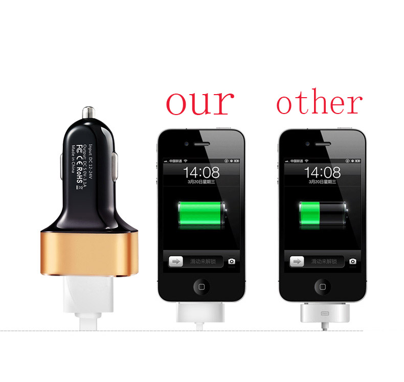 2/3 USB 2.1A /1A car-styling Car Charger phone for Senseit R450 E510 A200 A109 E400 E500 L301 R280 R390 R390+ for Sony Xperia L1