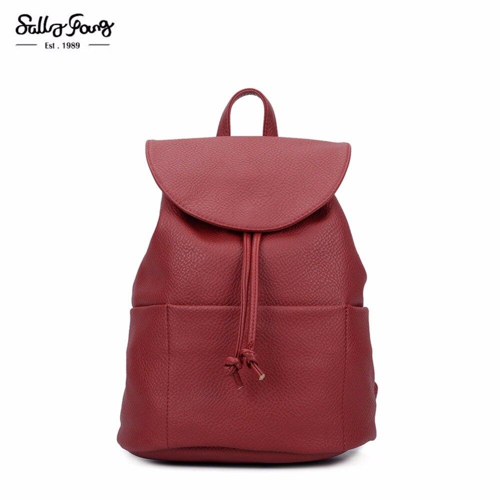 2017 Sally Young Fashion Women Bags Bolsa Feminina Solid women Backpacks WDS342