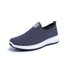 LZJ 2019 Slip-On Lightweight Mesh Men Shoes Casual Breathable Comfortable Walking Male Sneakers Tenis Feminino Footwear A22(China)