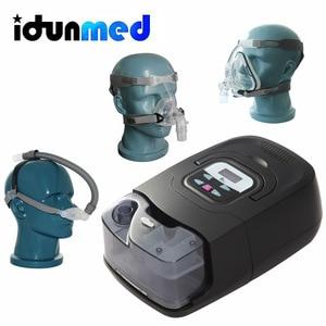 Image 1 - BMC CPAP אוטומטי מכונה GI אנטי נחירות אוטומטי נייד מכשיר עם סיליקון מלא פנים מסכת רצועת צינורות מסנן עבור שינה דום נשימה