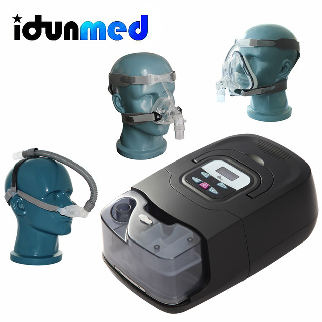 BMC CPAP אוטומטי מכונה GI אנטי נחירות אוטומטי נייד מכשיר עם סיליקון מלא פנים מסכת רצועת צינורות מסנן עבור שינה דום נשימה