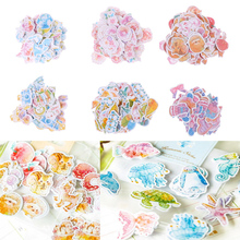 ANGRLY Party 40pcs/Bag DIY Cute Flower Styles Scrapbook Paper Stickers Crafts and Decorative Sticker Candy Cookies Package