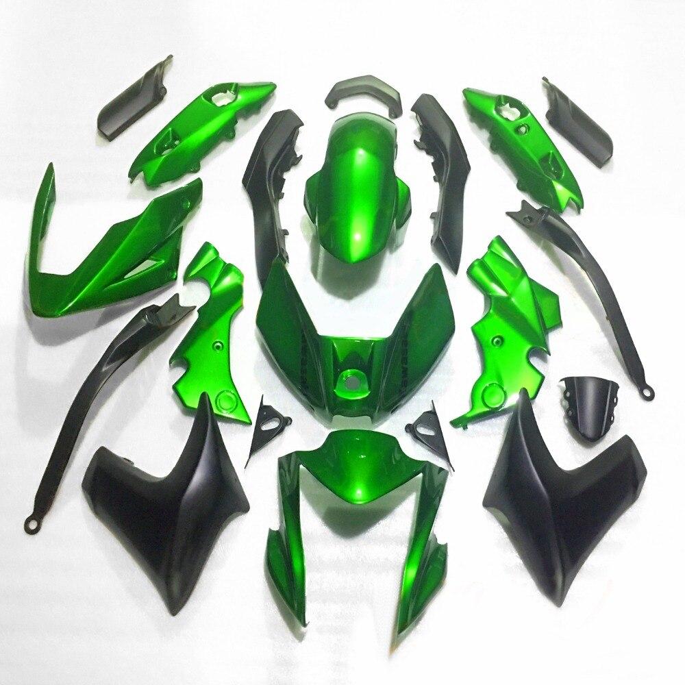 Green Black Fairing Bodywork Kit Panel Set For Kawasaki ER6N ER-6N 2012-2015 Motorcycle