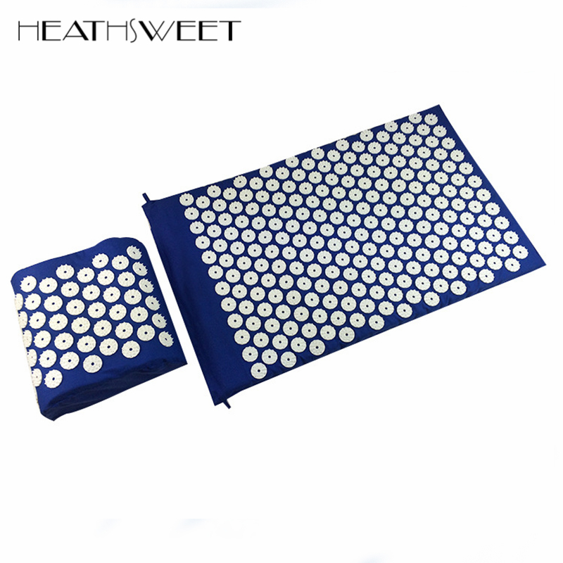 Healthsweet Body Massager Cushion Acupressure Mat Relieve Stress Pain Acupuncture Spike Yoga Mat with Pillow Drop For Shakti povihome 1set massage cushion acupressure therapy mat relieve stress pain relief acupuncture spike yoga mat with pillow d06874