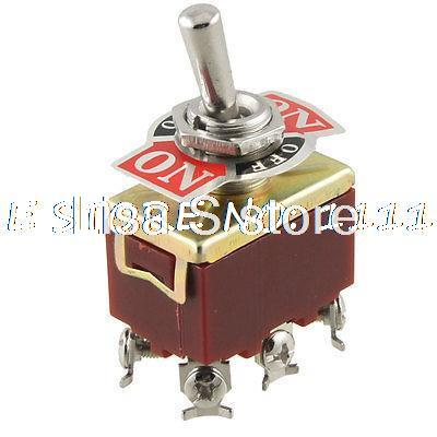 DPDT Double Pole On/Off/On Toggle Switch AC 250V 15A w 6 Screw Terminals