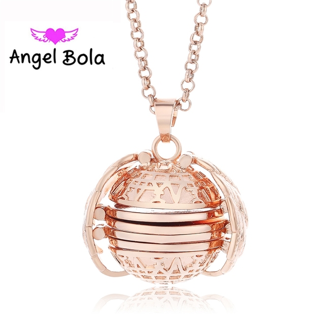 Pendant Memory Floating Locket Necklace Plated Angel Wings Flash Box Fashion Album Box Necklaces for Women 3